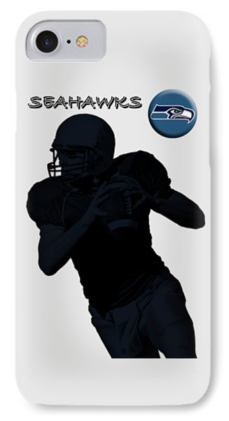 Seattle Seahawks Football IPhone Case by David Dehner