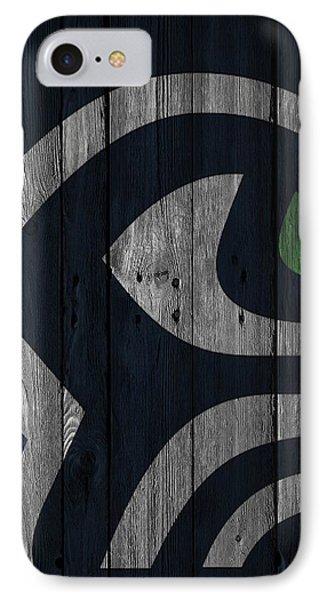 Seattle Seahawks Wood Fence IPhone Case by Joe Hamilton
