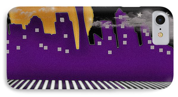 IPhone Case featuring the digital art Seattle Skyline by Digital Art Cafe