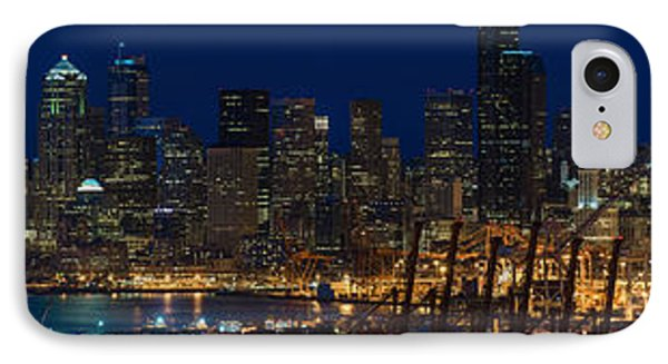 Seattle Skyline At Night From West Seattle IPhone Case
