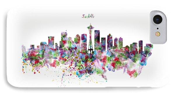Seattle Skyline Silhouette IPhone Case
