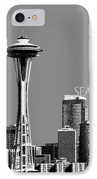 Seattle Skyline Space Needle - Pewter IPhone Case by DB Artist