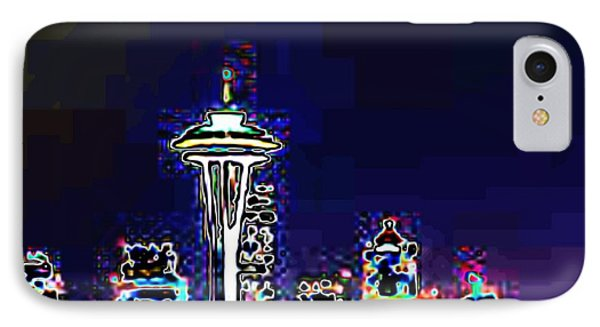 Seattle Skyline Phone Case by Tim Allen