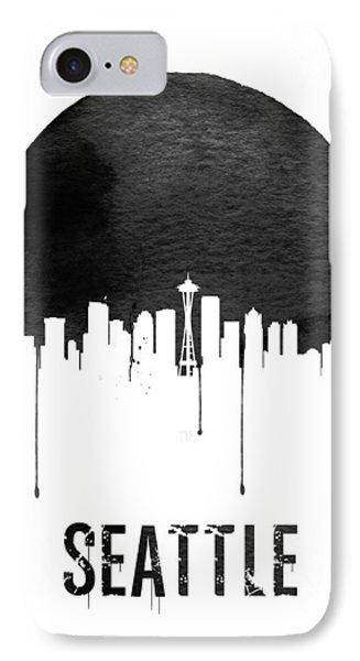 Seattle Skyline White IPhone 7 Case