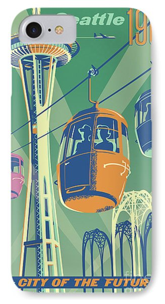Seattle Space Needle 1962 - Alternate IPhone Case by Jim Zahniser