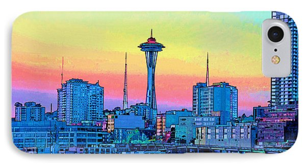 Seattle Space Needle Phone Case by RJ Aguilar