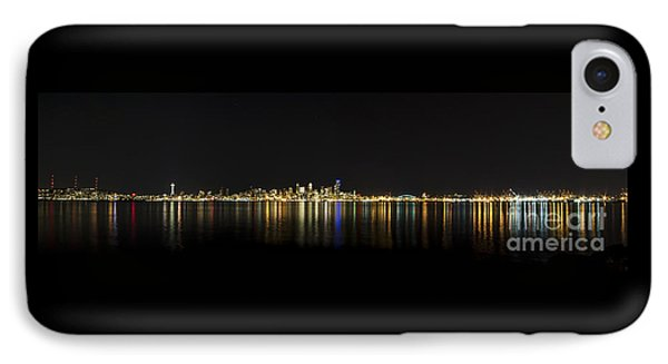Seattle Washington Skyline From Alki Seacrest Park At 10mm IPhone Case by Patrick Fennell