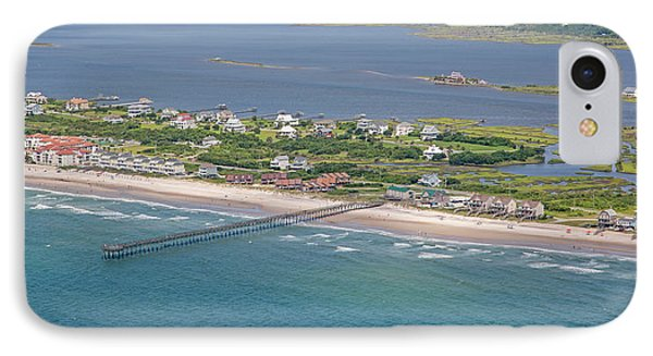 Seaview Fishing Pier Topsail Island IPhone Case by Betsy Knapp