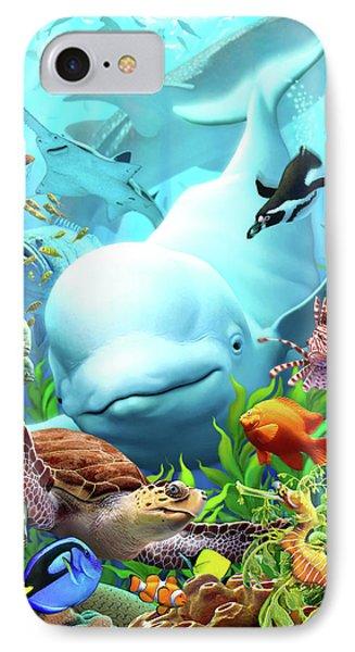 Penguin iPhone 7 Case - Seavilians 2 by Jerry LoFaro