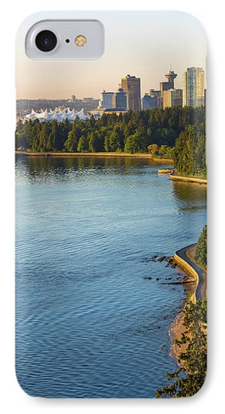 Seawall Along Stanley Park In Vancouver Bc Phone Case by David Gn