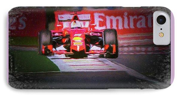 Sebastian Vettel's Ferrari IPhone Case by Marvin Spates