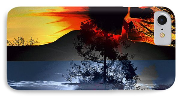 Sechelt Tree Sun And Moon IPhone Case by Elaine Hunter
