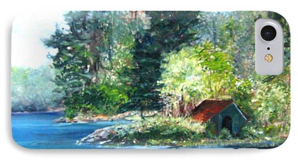 Secluded Boathouse-millsite Lake  IPhone Case