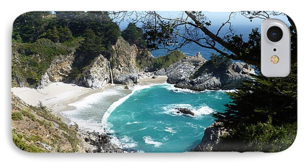 Secluded Mcway Cove In California's Julia Pfeiffer Burns State Park IPhone Case