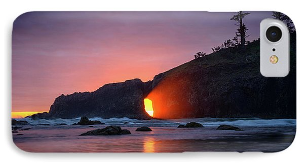 IPhone Case featuring the photograph Second Beach Light Shaft by Dan Mihai