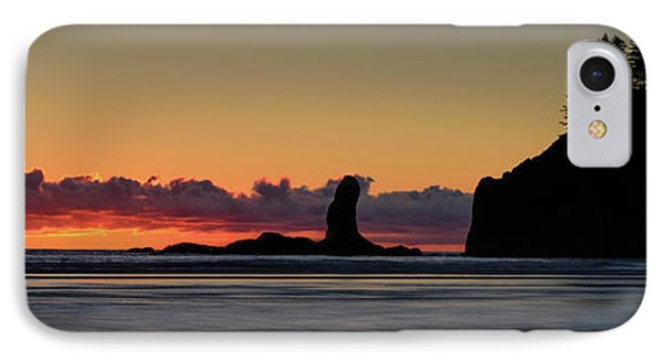 IPhone Case featuring the photograph Second Beach Silhouettes by Dan Mihai