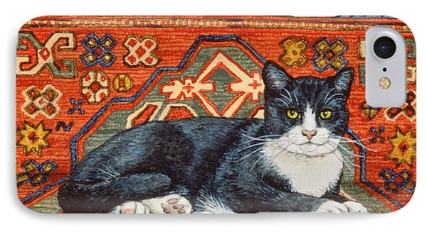 Second Carpet Cat Patch IPhone Case by Ditz