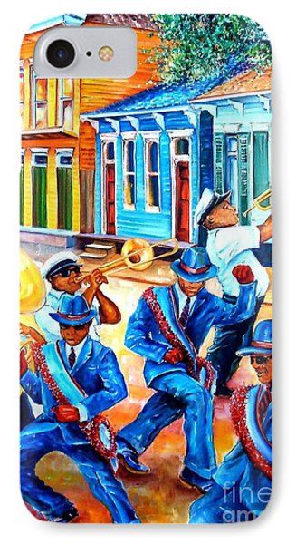 Trombone iPhone 7 Case - Second Line In Treme by Diane Millsap