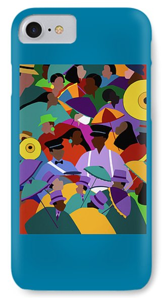 Second Line New Orleans IPhone Case by Synthia SAINT JAMES