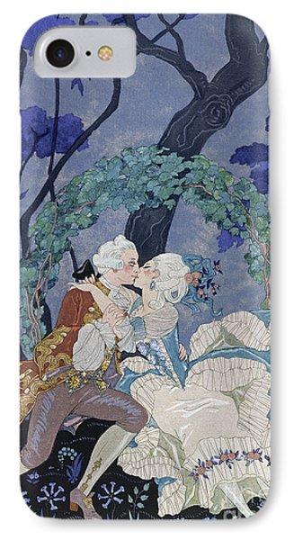 Secret Kiss Phone Case by Georges Barbier