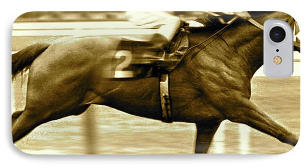 Secretariat Is Widening Now He Is Moving Like A Tremendous Machine IPhone Case by Thomas Pollart