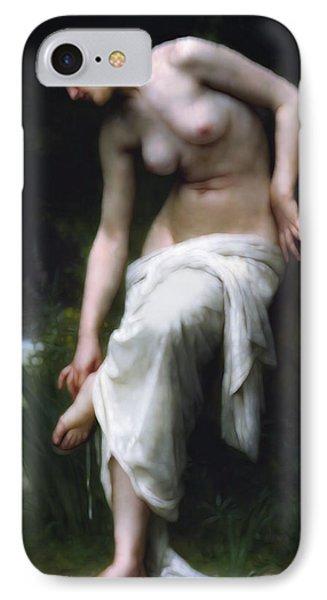 Secretly She Bathes At Night IPhone Case by Georgiana Romanovna