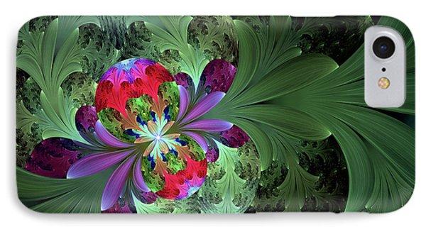Secrets Plants Keep Abstract IPhone Case by Georgiana Romanovna