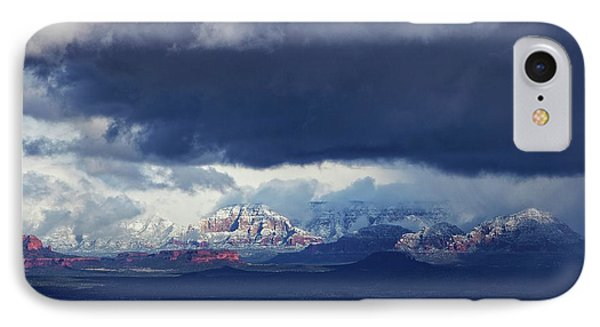 Sedona Area Third Winter Storm IPhone Case by Ron Chilston