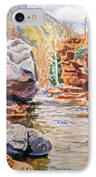 Sedona Arizona Slide Creek IPhone Case by Irina Sztukowski