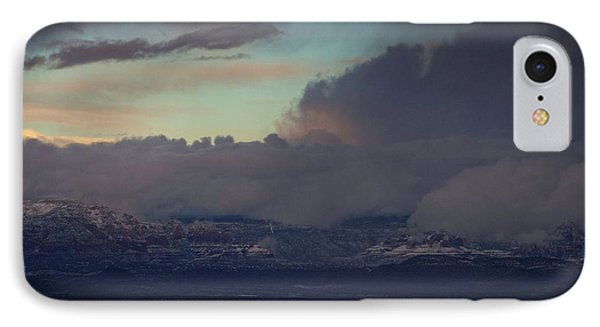 IPhone Case featuring the photograph Sedona At Sunset With Red Rock Snow by Ron Chilston