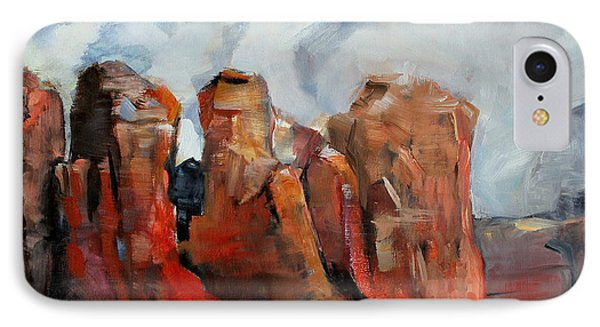 Sedona Coffee Pot Rock Painting IPhone Case