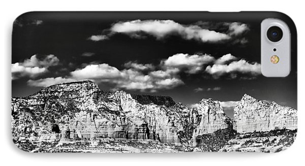 Sedona In Black And White IPhone Case by John Rizzuto