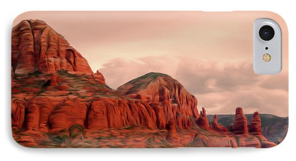 Sedona Mountains Painting IPhone Case