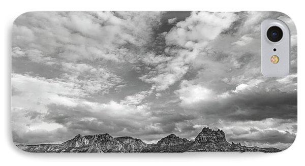 IPhone Case featuring the photograph Sedona Red Rock Country Bnw Arizona Landscape 0986 by David Haskett