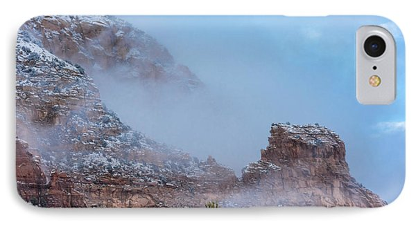IPhone Case featuring the photograph Sedona Winter by Sandra Bronstein
