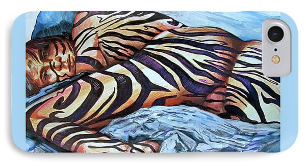 Seduction Of Stripes IPhone Case by Rene Capone