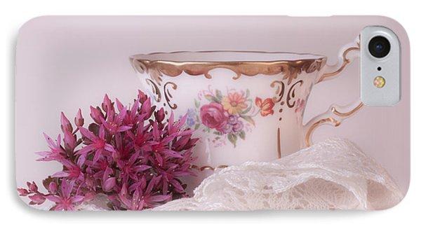 Sedum Flower Still Life Phone Case by Sandra Foster