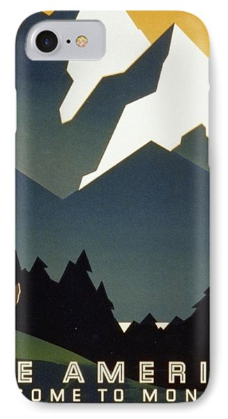See America Welcome To Montana Phone Case by M Weitzman
