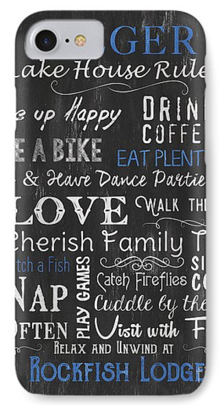 Seeger Lake House Rules IPhone Case