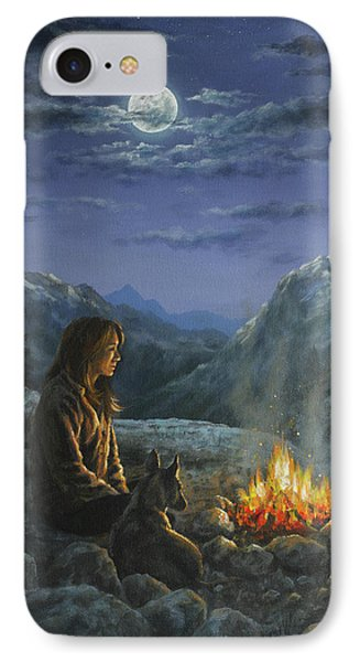 IPhone Case featuring the painting Seeking Solace by Kim Lockman