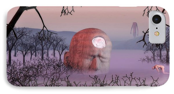 Seeking The Dying Light Of Wisdom IPhone Case by John Alexander