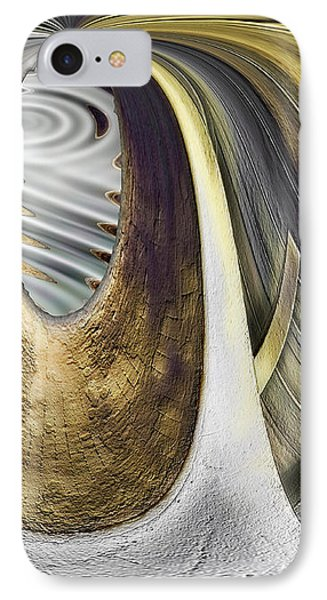 IPhone Case featuring the digital art Seen In Stone by Wendy J St Christopher
