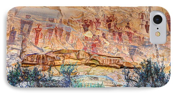 Sego Canyon Indian Petroglyphs And Pictographs IPhone Case