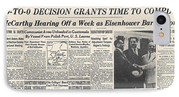 Segregation Headline, 1954 Phone Case by Granger