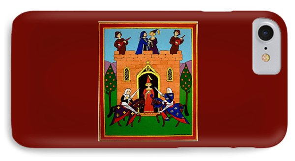 IPhone Case featuring the painting Seige Of The Castle Of Love by Stephanie Moore