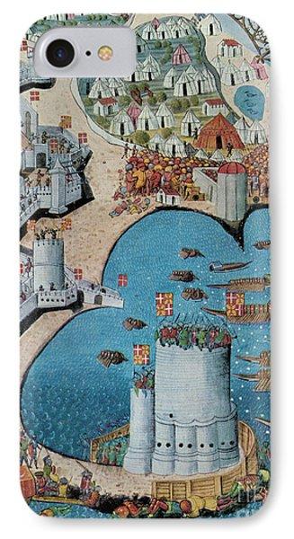 Seige Of Tower Of Saint Nicolas IPhone Case