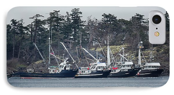 Seiners In Nw Bay IPhone Case by Randy Hall