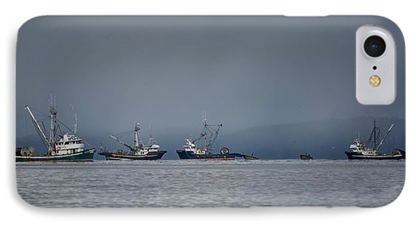 IPhone Case featuring the photograph Seiners Off Mistaken Island by Randy Hall