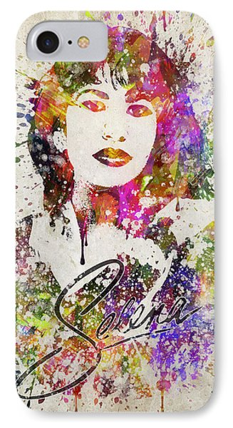 Selena Quintanilla In Color IPhone 7 Case by Aged Pixel