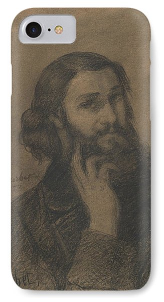 Self-portrait IPhone Case by Gustave Courbet